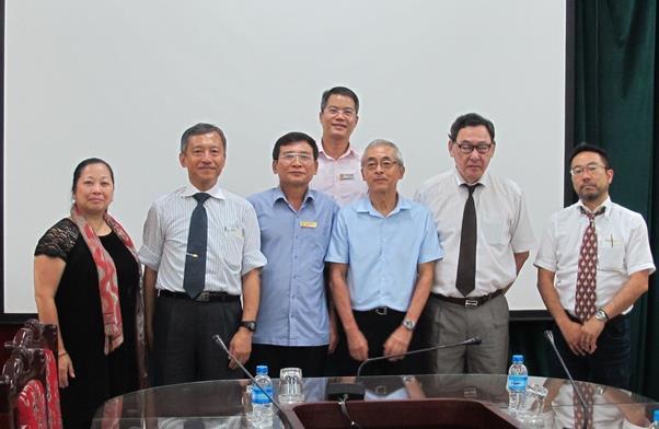 Tiếp đoàn chuyên gia Cơ quan hợp tác quốc tế Nhật Bản (JICA) đến trao đổi và khảo sát về việc ứng dụng công nghiệp 4.0 tại Trường Đại học Công nghiệp Hà Nội