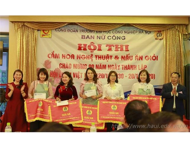 Hội thi cắm hoa, nấu ăn, chào mừng kỷ niệm 90 năm ngày thành lập Hội liên hiệp Phụ nữ Việt Nam
