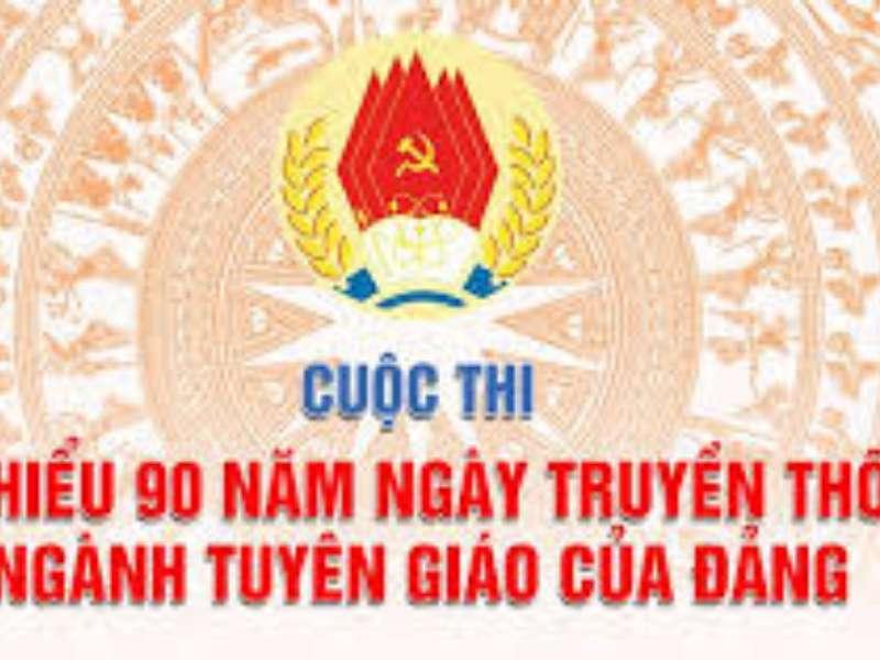 """Cuộc thi """"Tìm hiểu 90 năm Ngày truyền thống ngành Tuyên giáo của Đảng"""""""